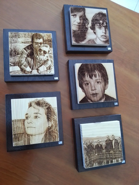 Decoracion con  mosaico de fotograbados